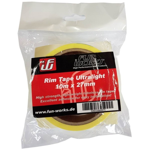 Fun Works Tubeless Rim Tape Ultralight 10mX27mm