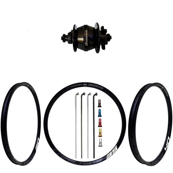 Fun Works Generator 3Way Hub Dynamo Disc IS Custom Front Wheel MTB 29er