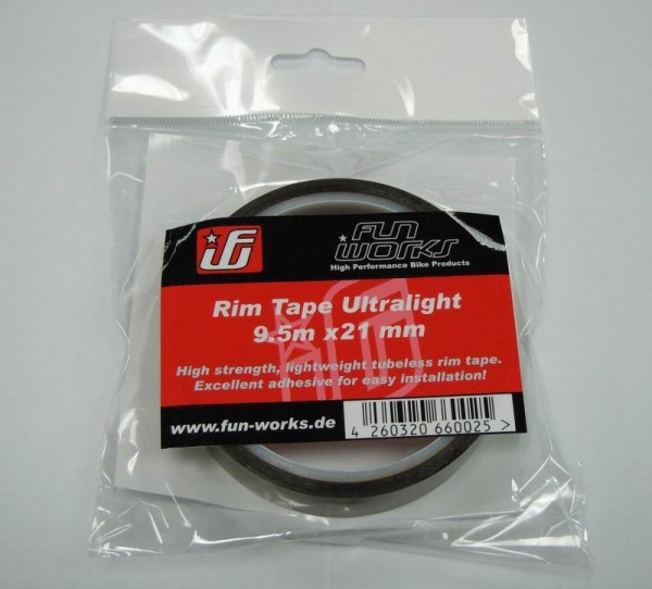 Fun Works Tubeless Rim Tape Ultralight 9,5mX21mm