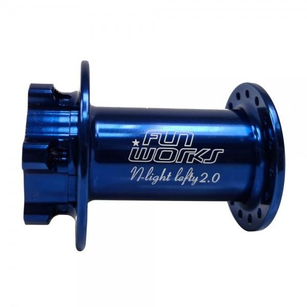 Fun Works N-Light Lefty 2.0 IS disc Front Hub 6-Bolt blue